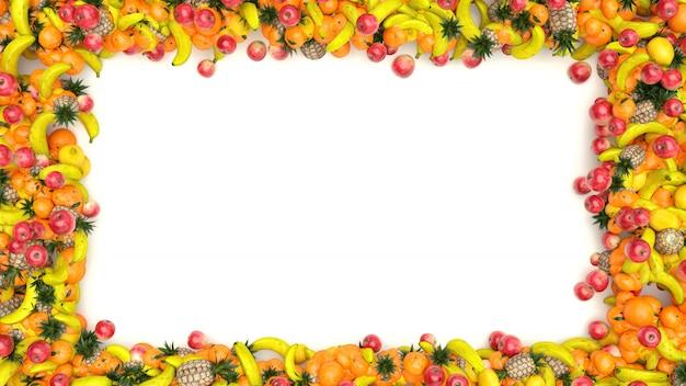 Render cornice di frutta