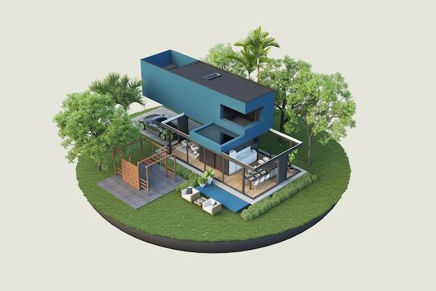 Rendering di progetti architettonici e decorazione di interni