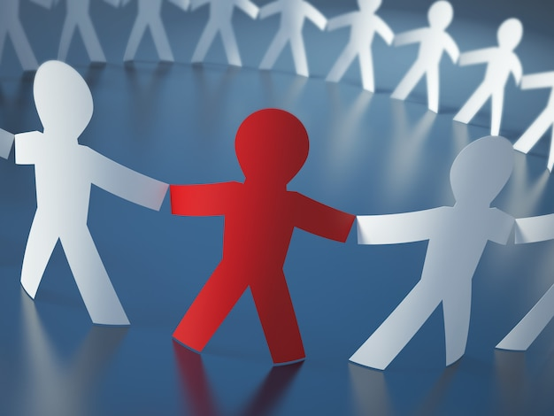 Illustrazione della rappresentazione della gente del pittogramma di lavoro di squadra