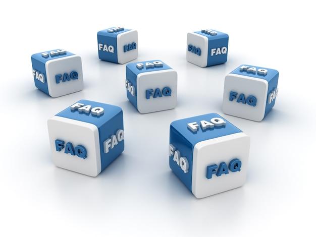 Illustrazione della rappresentazione dei blocchetti delle mattonelle con la parola del faq