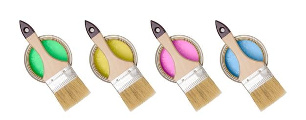 Riparare pennelli e barattoli di vernice