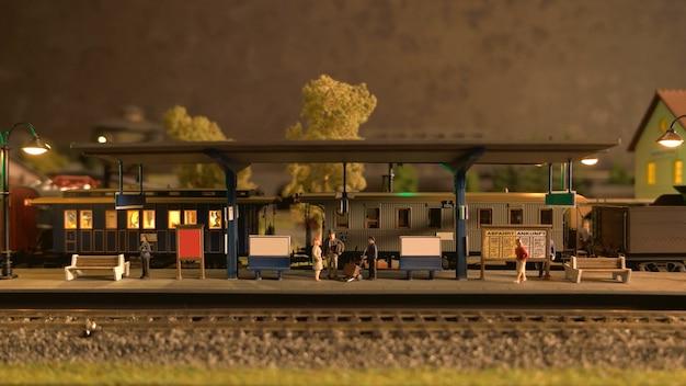 Replica della stazione ferroviaria retrò.