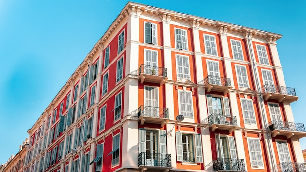 Edifici residenziali a nizza, francia