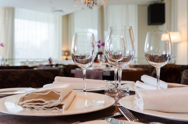 Colpo di interni del ristorante