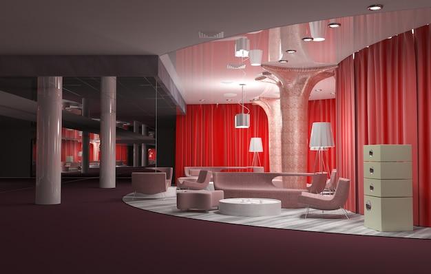 Ristorante, visualizzazione degli interni, 3d