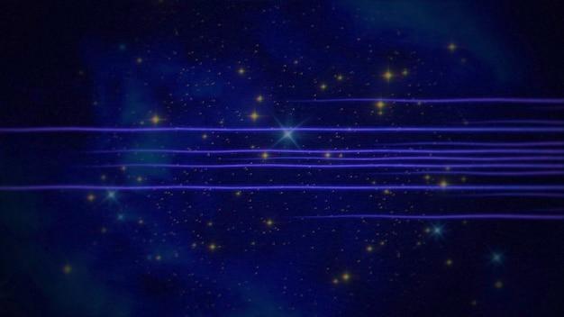 Linee retrò nella galassia, sfondo astratto. elegante e lussuosa illustrazione 3d in stile anni '80 e '90