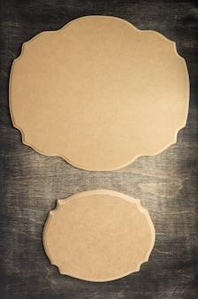 Insegna retrò a texture di sfondo in legno