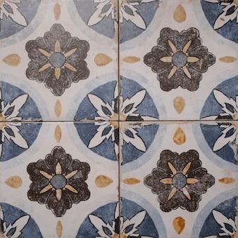 Retro disegno spagnolo delle mattonelle della cucina, piastrella retro della parete del mosaico