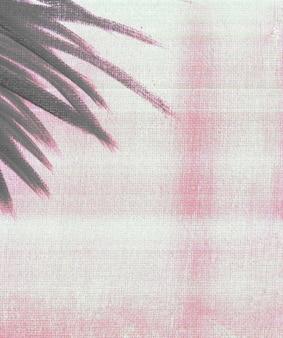 Retro vintage moody film look dipinto a mano botanica acrilico dipinto su tela arte botanica