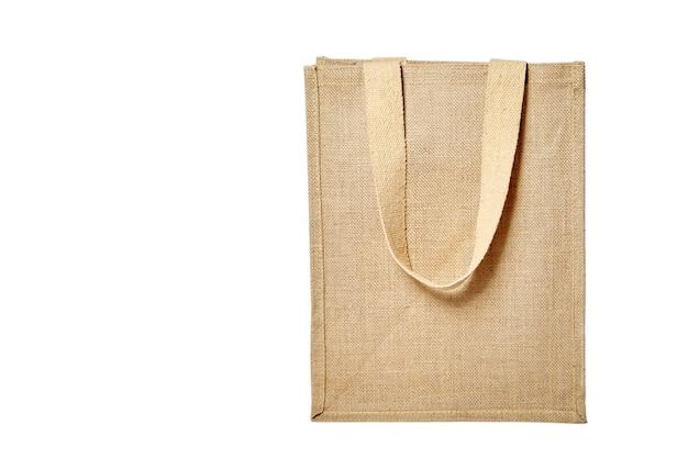 Riutilizzabile shopping bag di iuta isolato