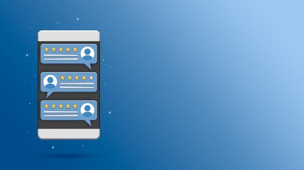 Rivedi i discorsi delle bolle di valutazione sul rendering dello schermo del telefono