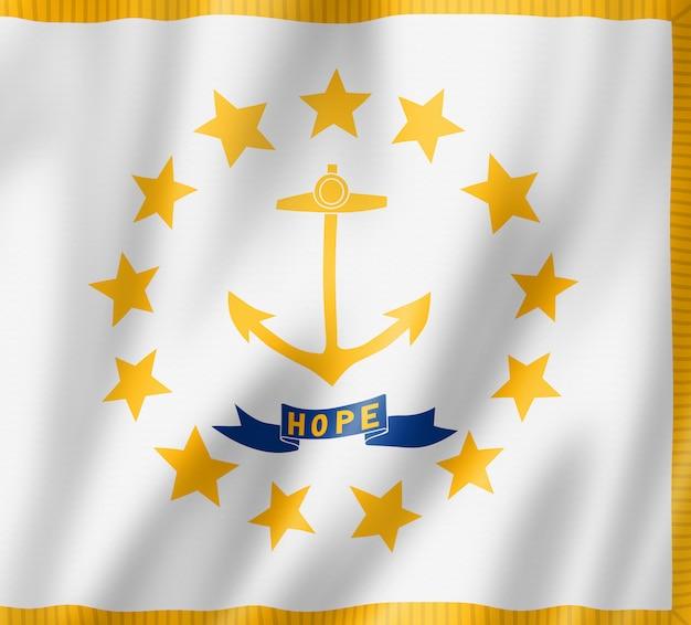 Bandiera del rhode island, stati uniti d'america