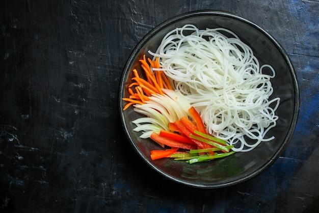 Spaghetti di riso pho glass noodle asiatici vermicelli