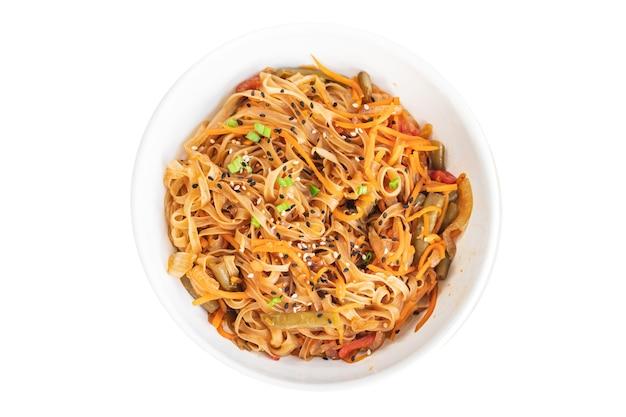 Spaghetti di riso wok verdure salsa di soia zuppa pho pho bo pad thai funchose