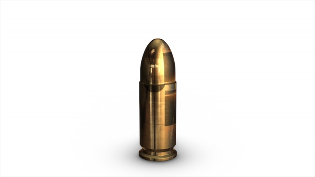Proiettile di fucile isolato
