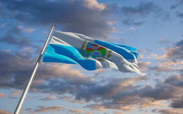 Bandiera di stato del brasile di rio de janeiro. grafica 3d