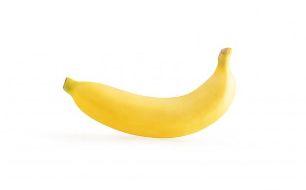Banana matura isolata sui precedenti bianchi