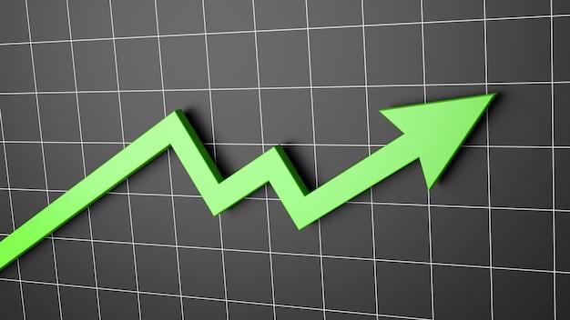 Grafico a freccia in aumento