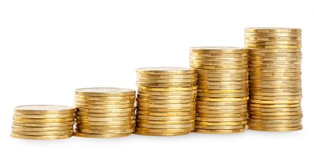 Colonne in aumento di monete d'oro