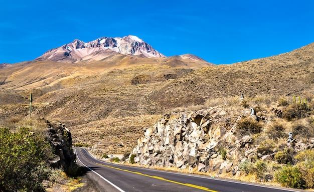 Strada arequipa - cusco nelle ande, perù