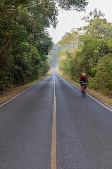 La strada nel parco nazionale di khoa yai, tailandia