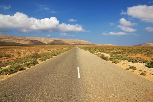 La strada sull'isola di socotra, oceano indiano, yemen
