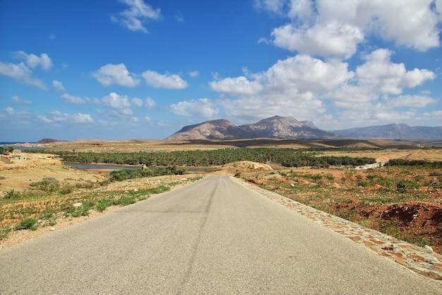 La strada sull'isola di socotra, yemen