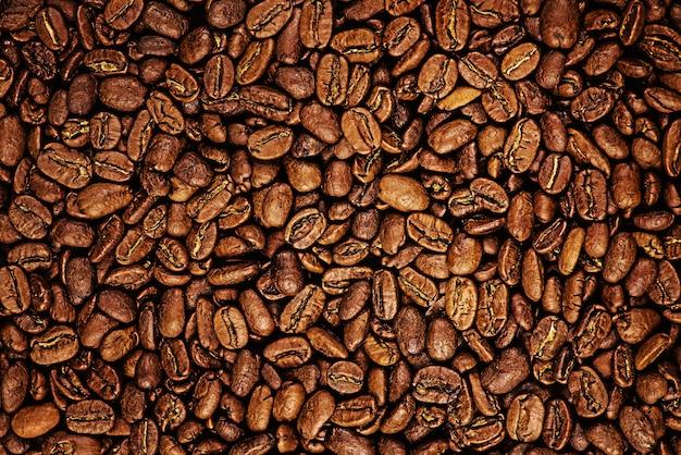 Sfondo di chicchi di caffè arrostiti