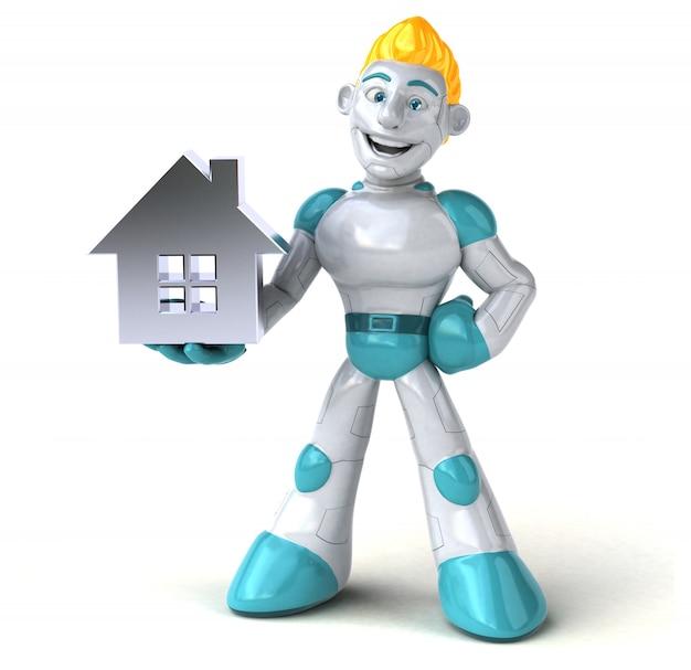 Robot - illustrazione 3d