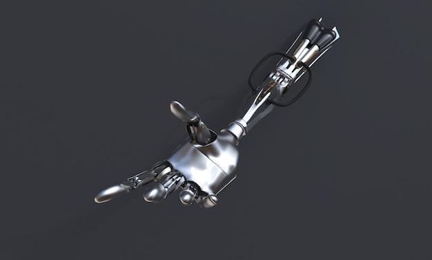 Mano del robot sui precedenti neri