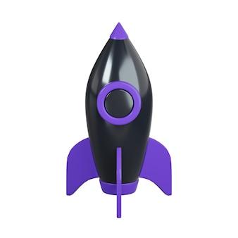 Icona del razzo isolato su bianco