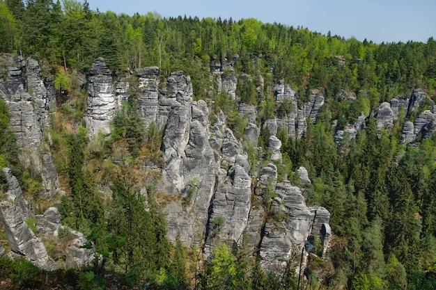 Rocks bastei nel parco nazionale della svizzera sassone