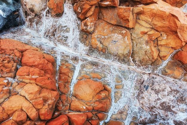 Paesaggio montano roccioso, veduta aerea