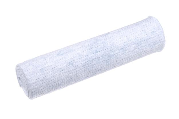 Tessuto bianco arrotolato per la pulizia