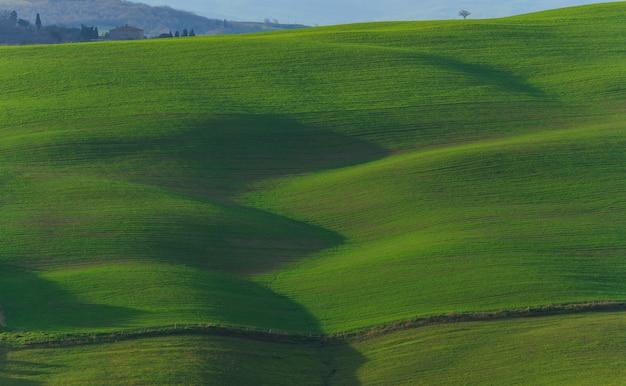 Le dolci colline della val dorcia in toscana italy