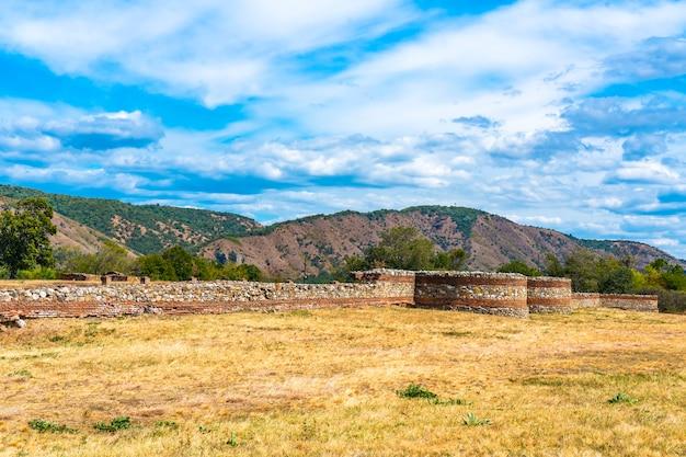 Castrum romano fortezza diana, costruita nel 101 d.c. a kladovo, serbia orientale
