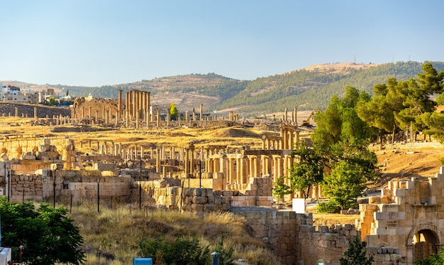 La città romana di gerasa - jerash, giordania