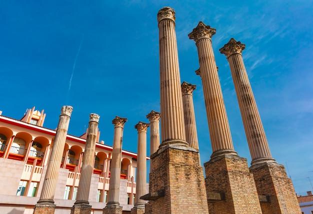Colonne romane del tempio, cordova, spagna
