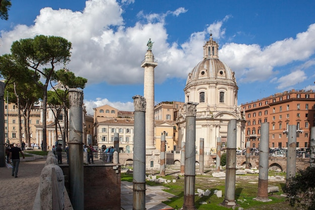 Rovine romane a roma, italia