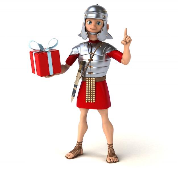 Animazione di un soldato romano