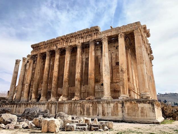 Tempio romano di bacco a baalbek in libano medio oriente