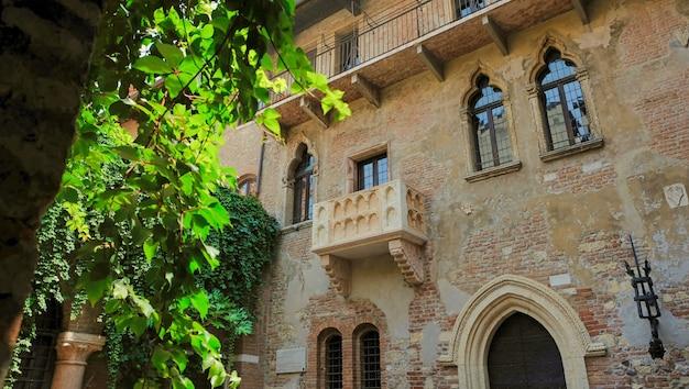Il romantico balcone di romeo e giulietta a verona italia shakespeare