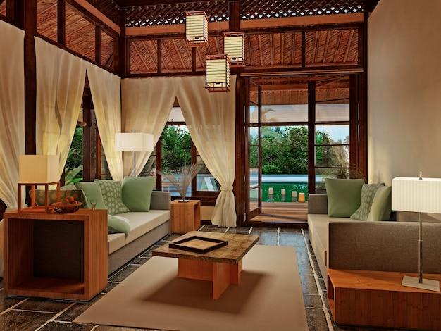 Bungalow romantico con piscina privata e viste superbe