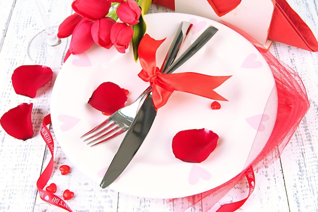Regolazione della tabella delle vacanze romantiche