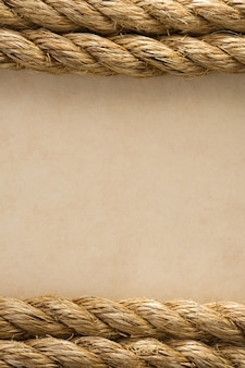 Corde sulla vecchia trama di sfondo carta antica vintage