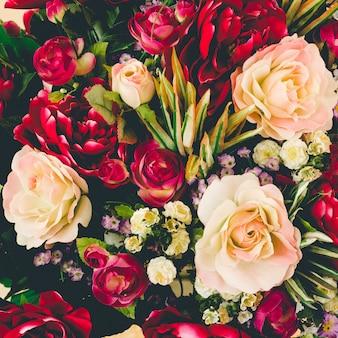 Sfondo di mazzi di fiori di rosa