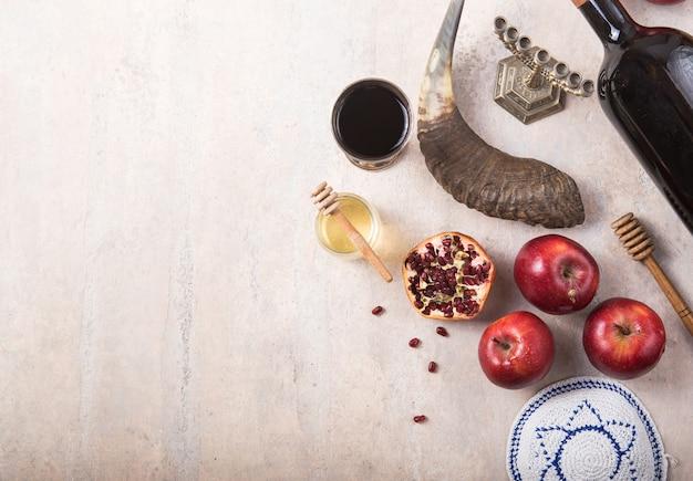 Rosh hashanah - concetto di vacanza di capodanno ebraico.
