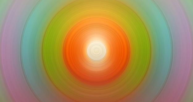 Fondo arancio e verde elegante astratto rotondo per progettazione