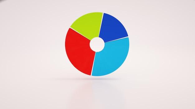Diagramma rotondo, infografica, illustrazione 3d. presentazione aziendale, elemento di design isolato su sfondo bianco.