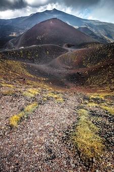 Itinerario sul vulcano etna in sicilia.